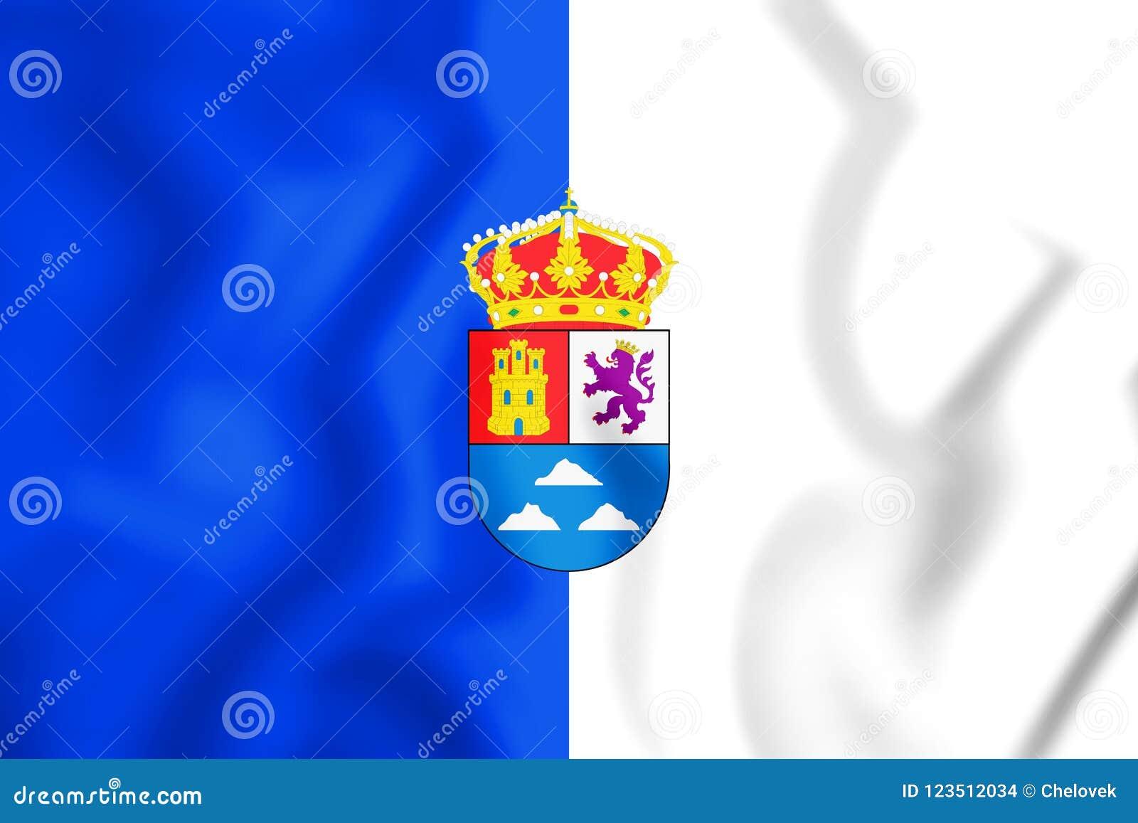 3D Vlag van Las Palmasprovincie, Spanje