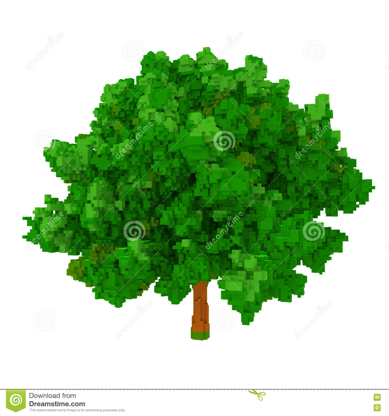 More similar stock images of 3d landscape with fall tree - 3d Voxel Tree Royalty Free Stock Photos