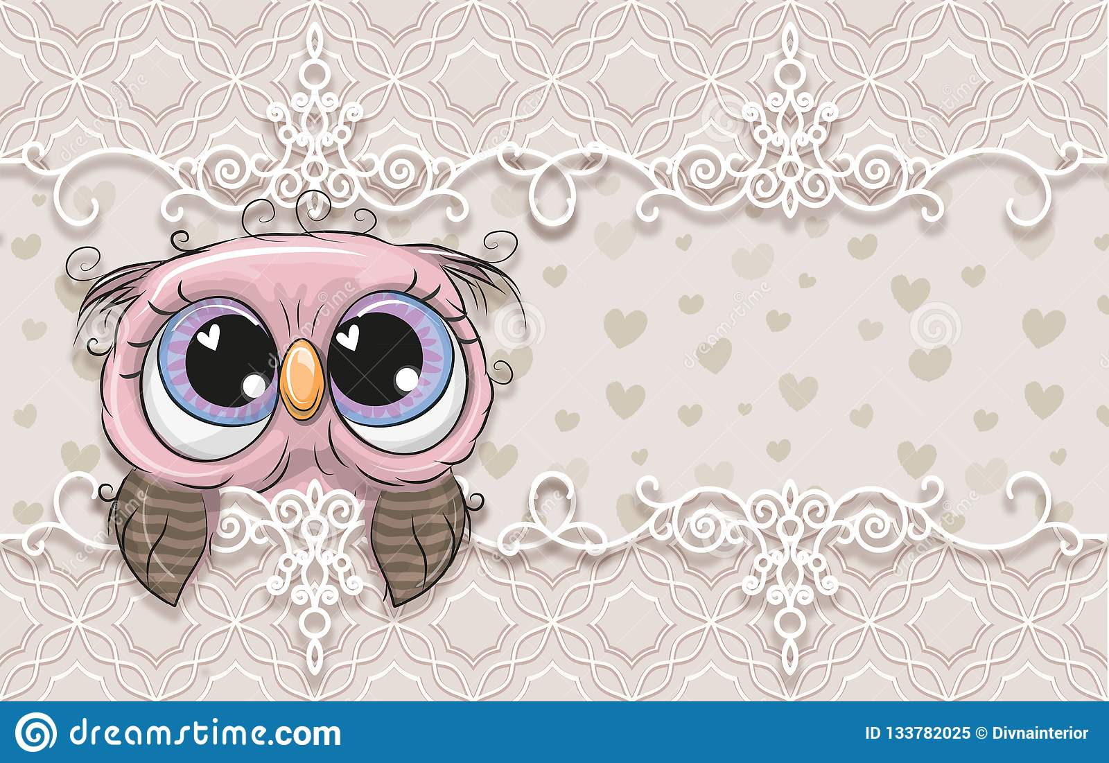 3d Wallpaper Cute Pastel Background With Owlet Birthday