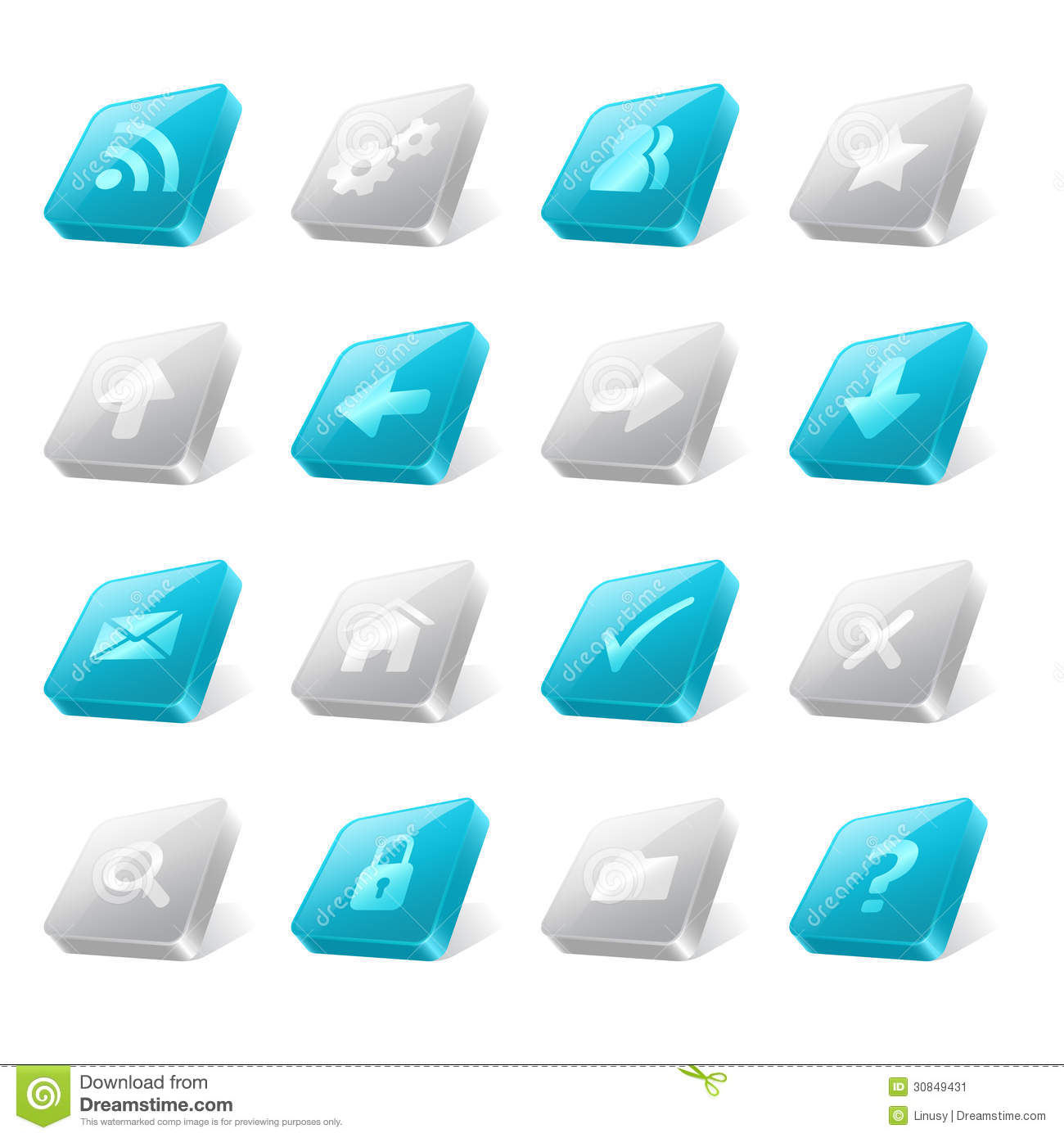 3d Web Buttons Stock Image Image 30849431