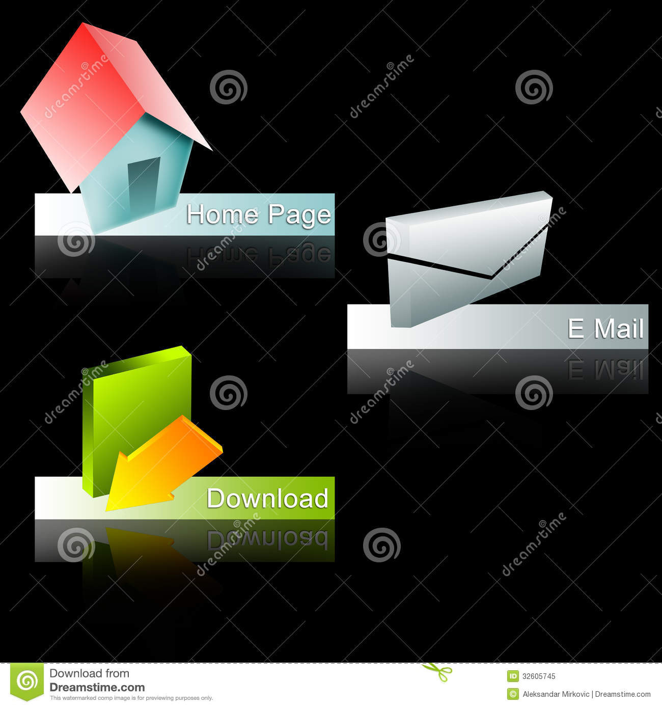 3d Web Buttons Royalty Free Stock Photo Image 32605745