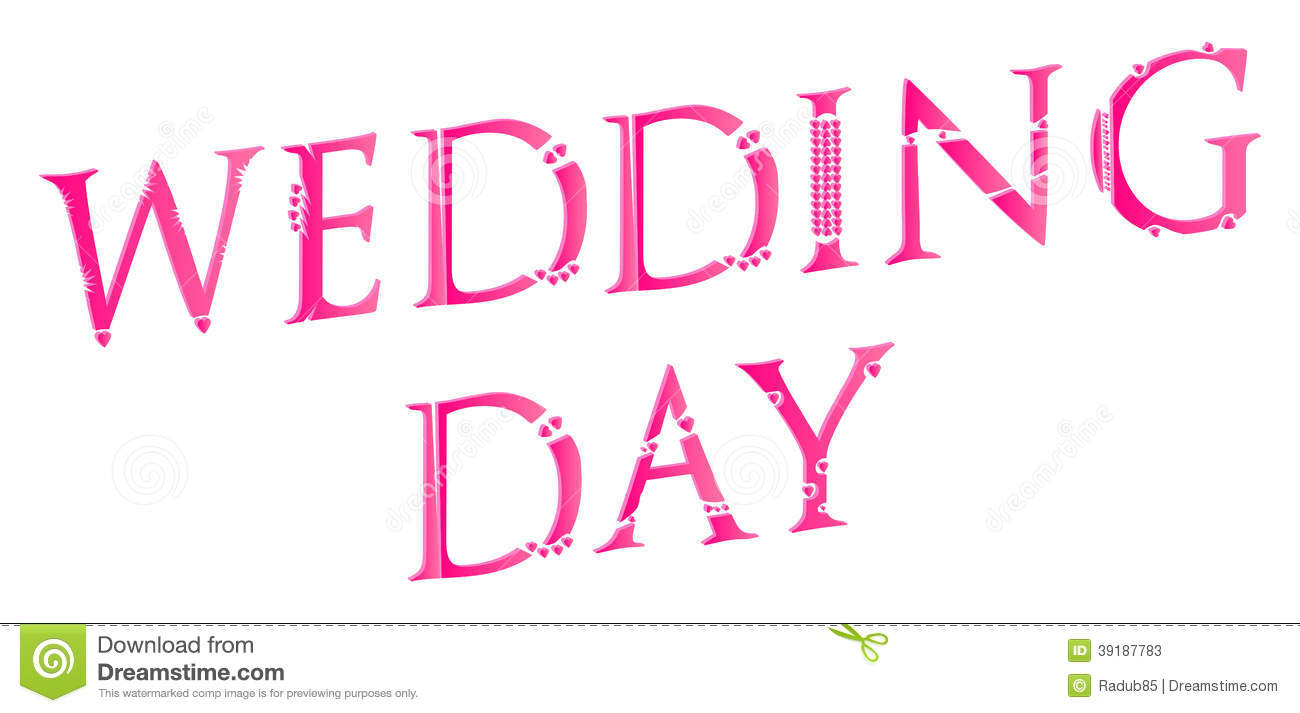 3d wedding day word concept