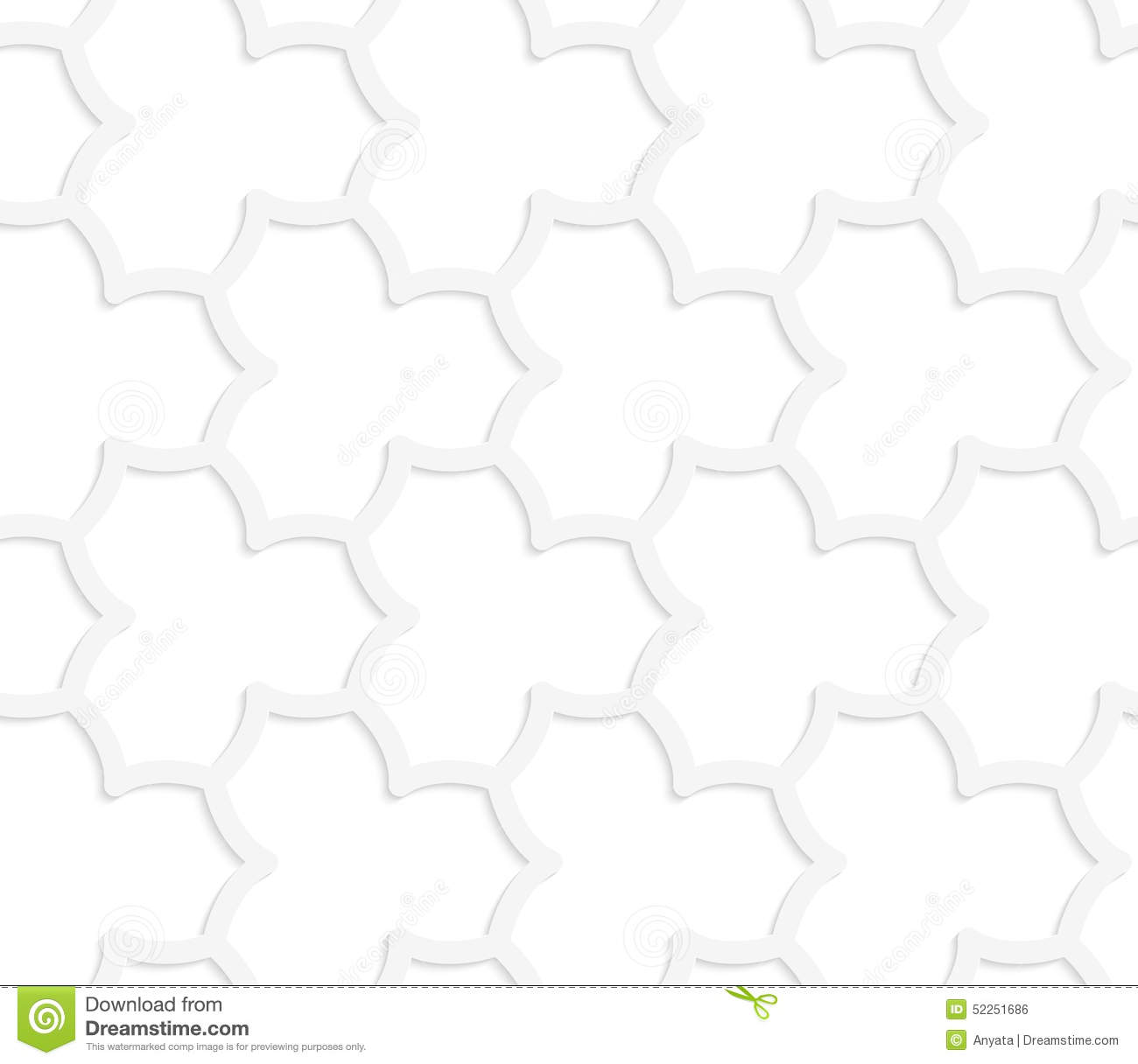 3d white abstract geometrical pointy flower grid stock vector