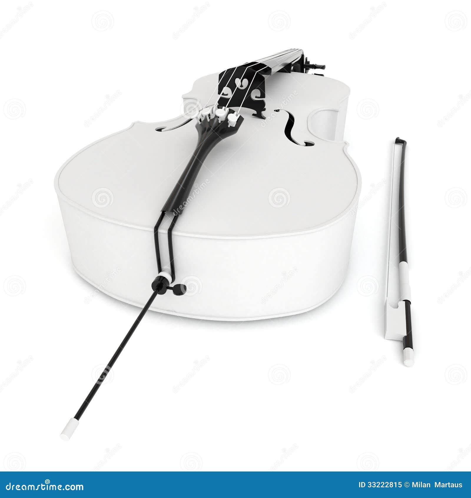 Cello cartoon cello player stock photography image 32561422 - 3d White Cello