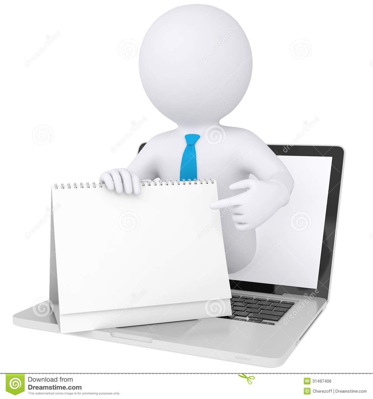 Clipart Sitting At Computer