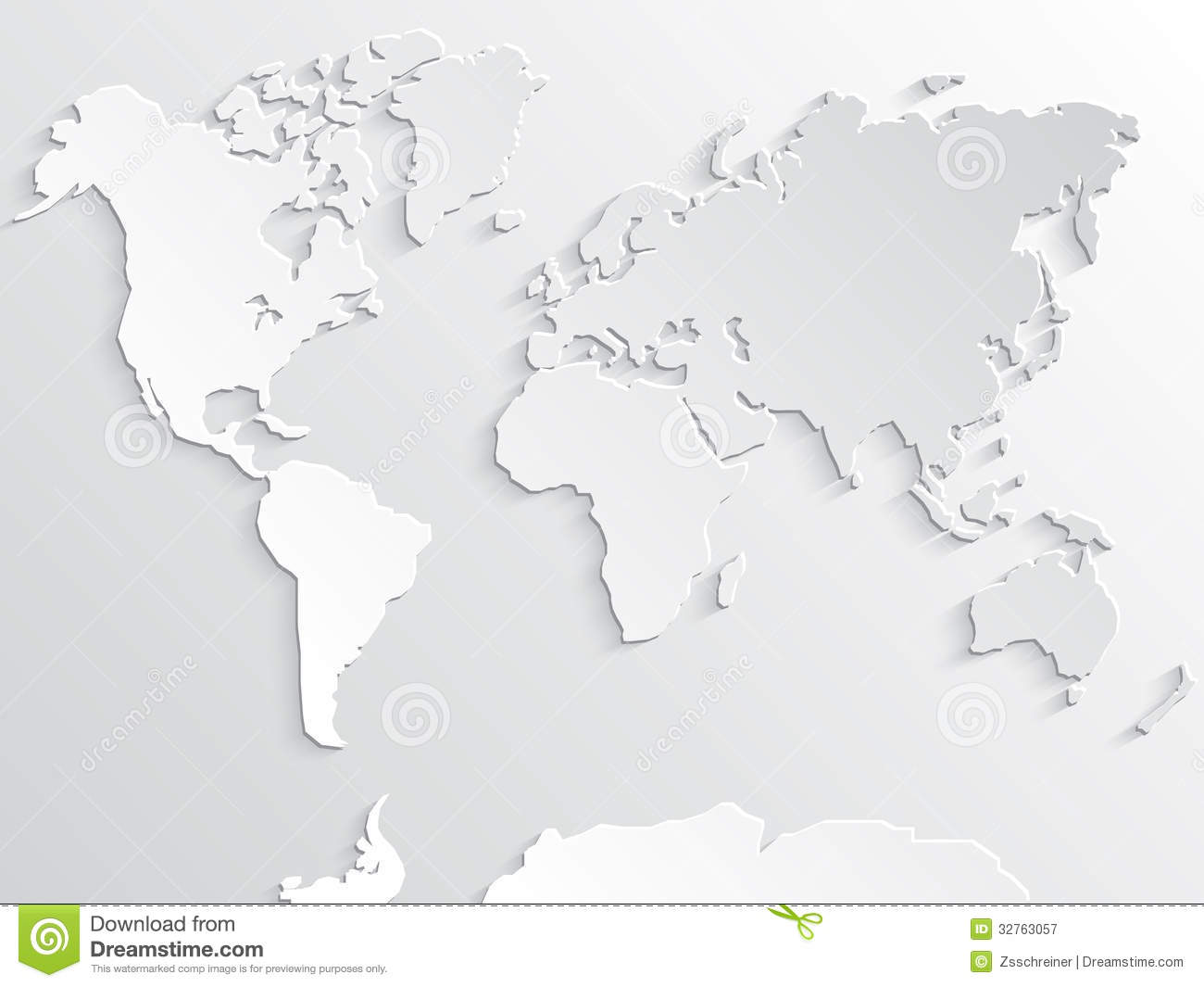 3d white paper world map with shadows stock illustration image 3d white paper world map with shadows royalty free stock photo gumiabroncs Choice Image