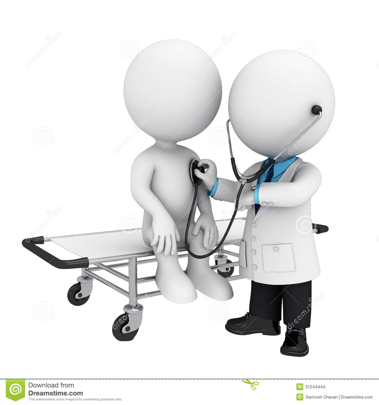 Stock Photo: 3d white people as doctor with patient. Image: