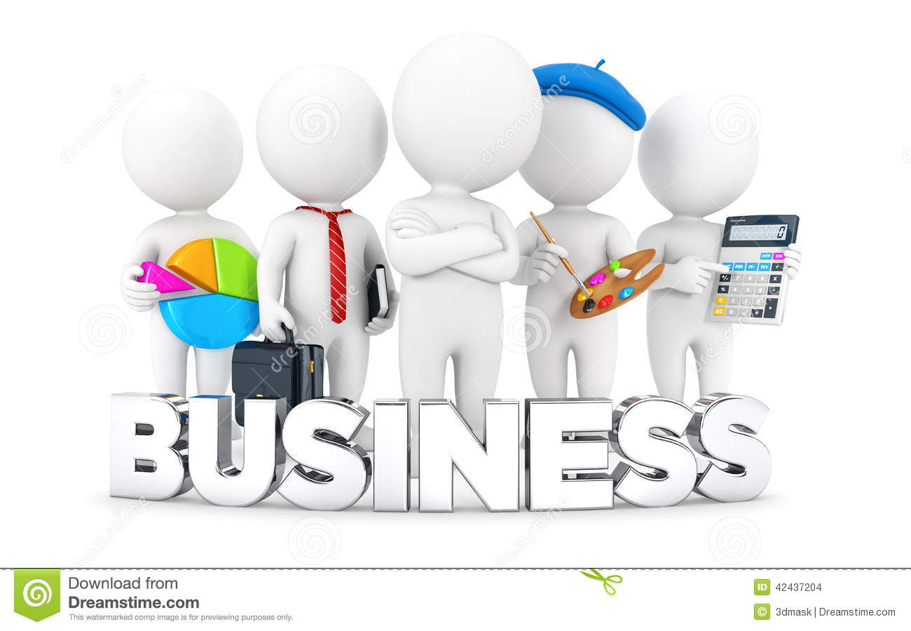 3d white people business jobs stock illustration image 42437204 3d white people business jobs