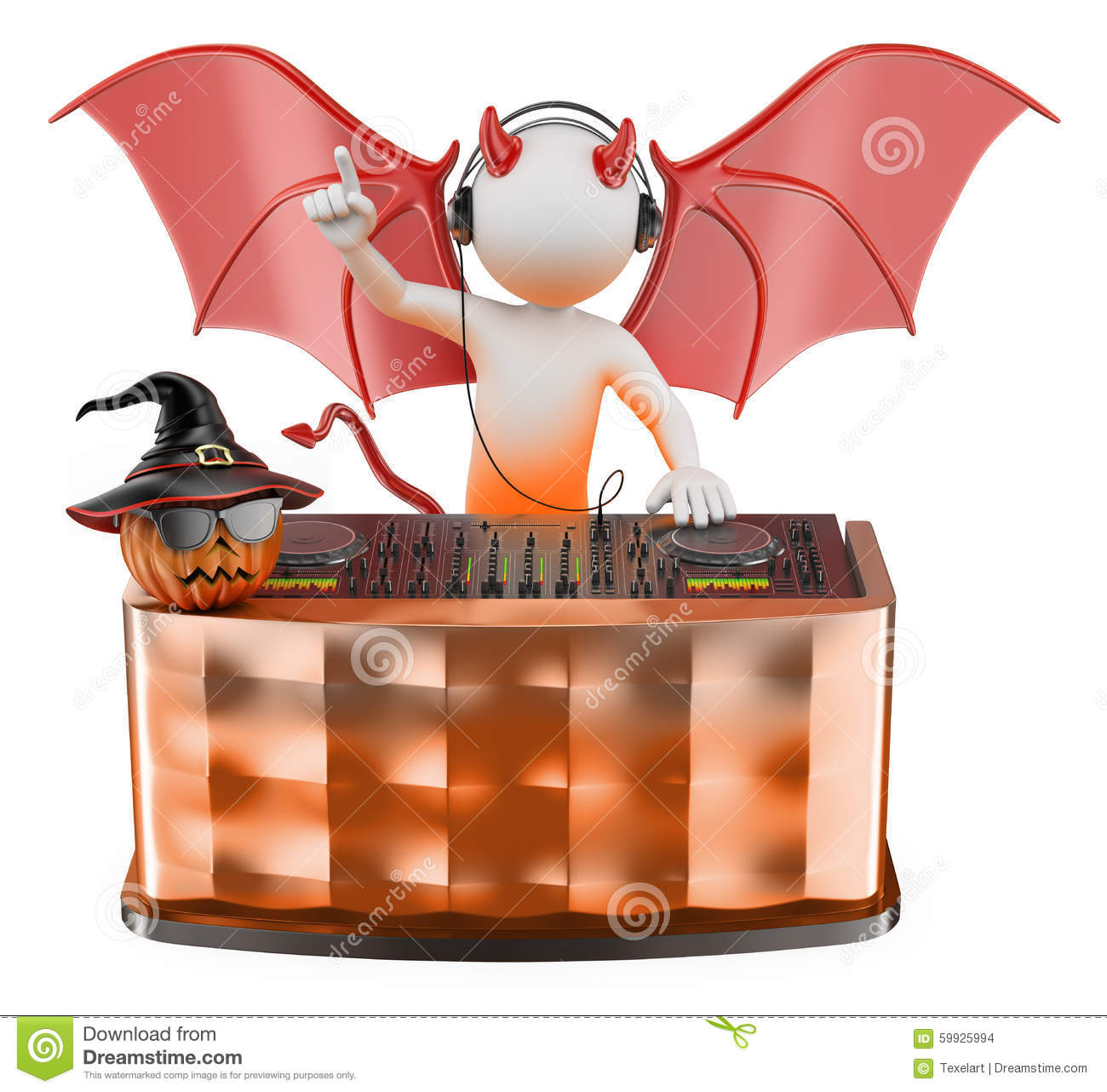 Halloween DJ Royalty Free Stock Photos - Image: 6508658