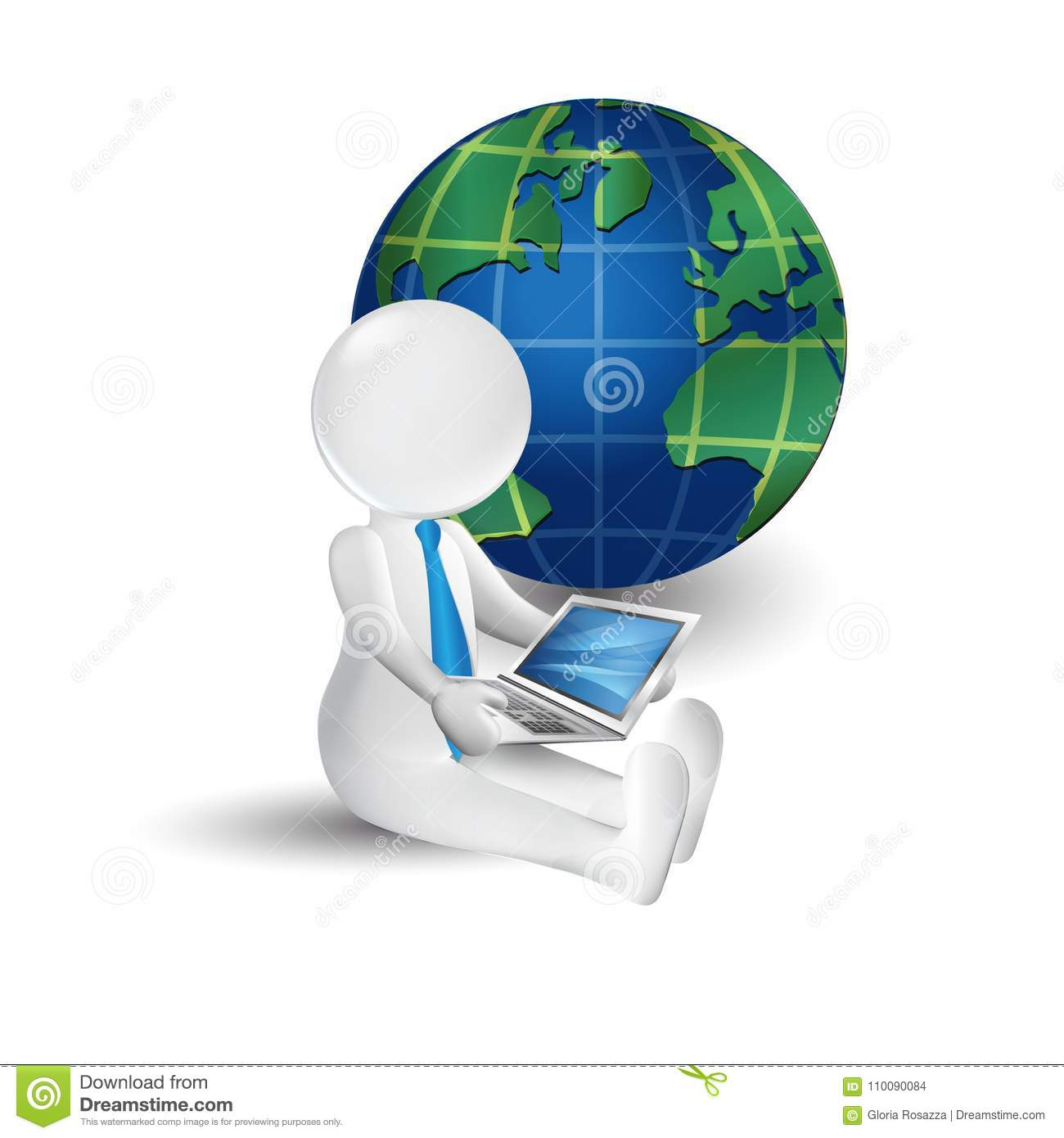 3d white people man with laptop and world map icon logo stock vector download 3d white people man with laptop and world map icon logo stock vector illustration gumiabroncs Choice Image