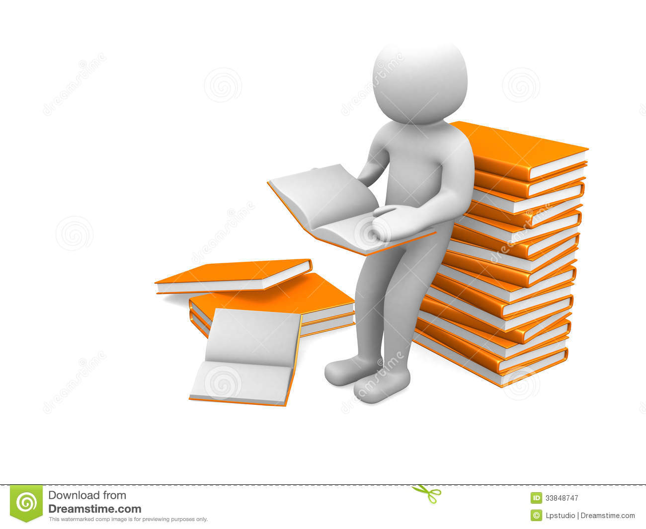 3d white people reads a book  leaning back against a pile of boo royalty free stock photography science book clipart colored science book clipart colored