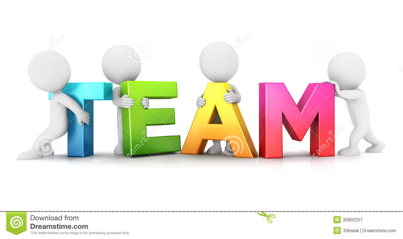 3d White People Team Stock Illustration Illustration Of