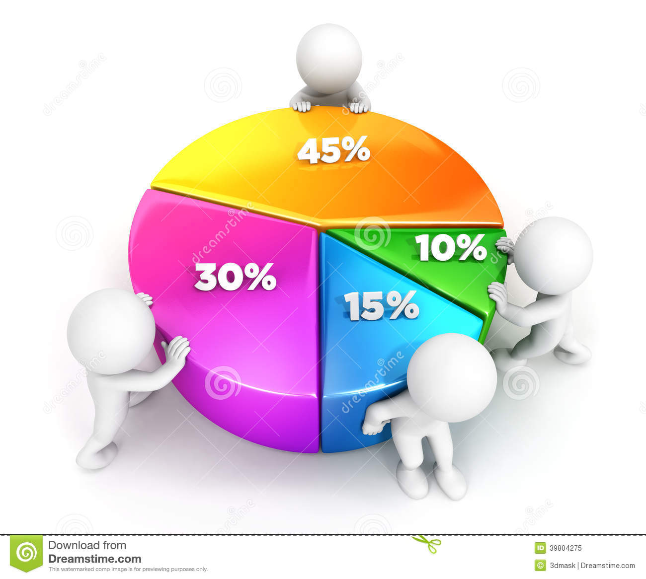 3d white people team pie chart stock illustration illustration 3d white people team pie chart nvjuhfo Image collections