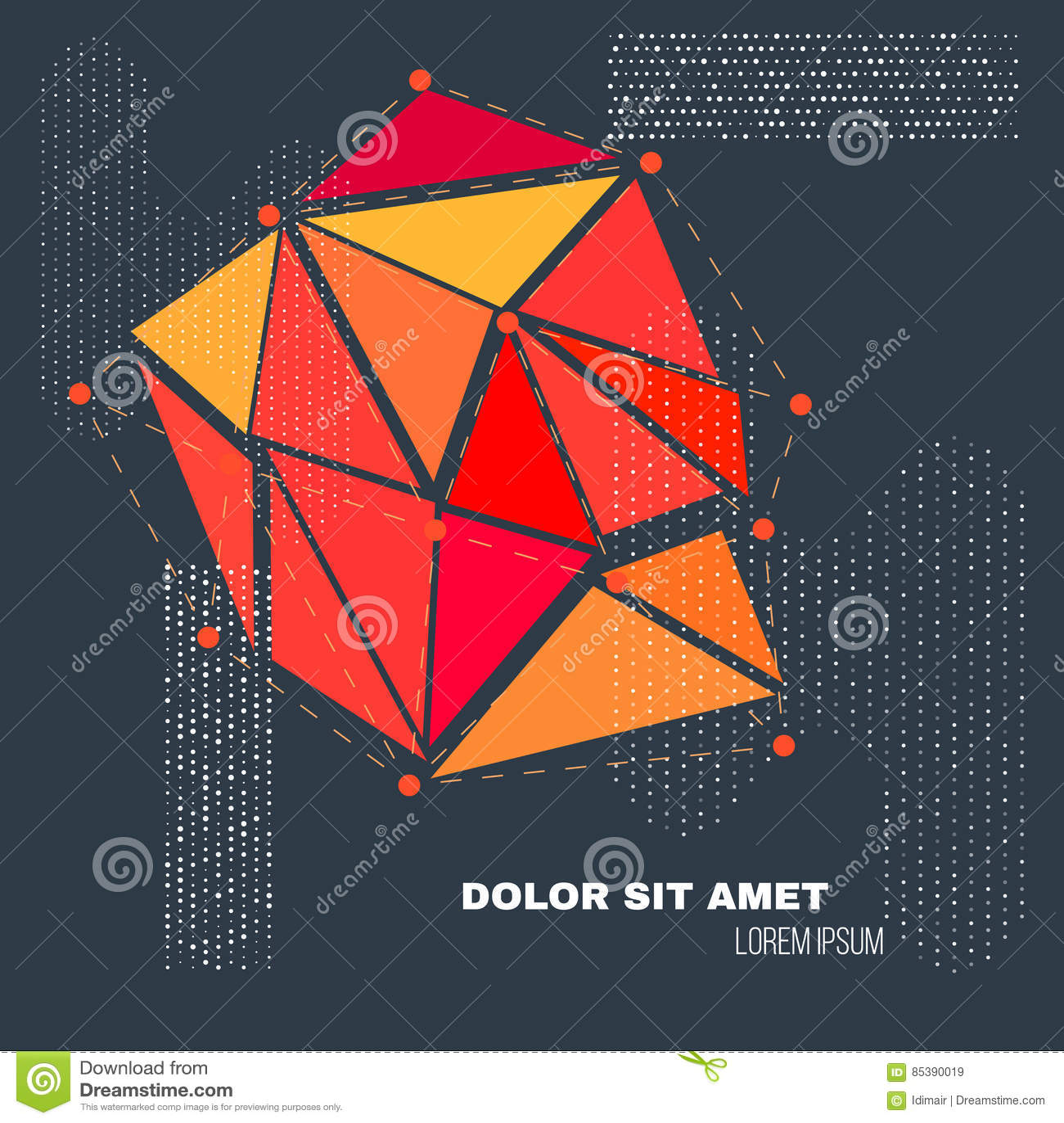 3D wieloboka geometrii Niski tło Abstrakcjonistyczny poligonalny geometryczny kształt Lowpoly Minimalna Stylowa sztuka wektor