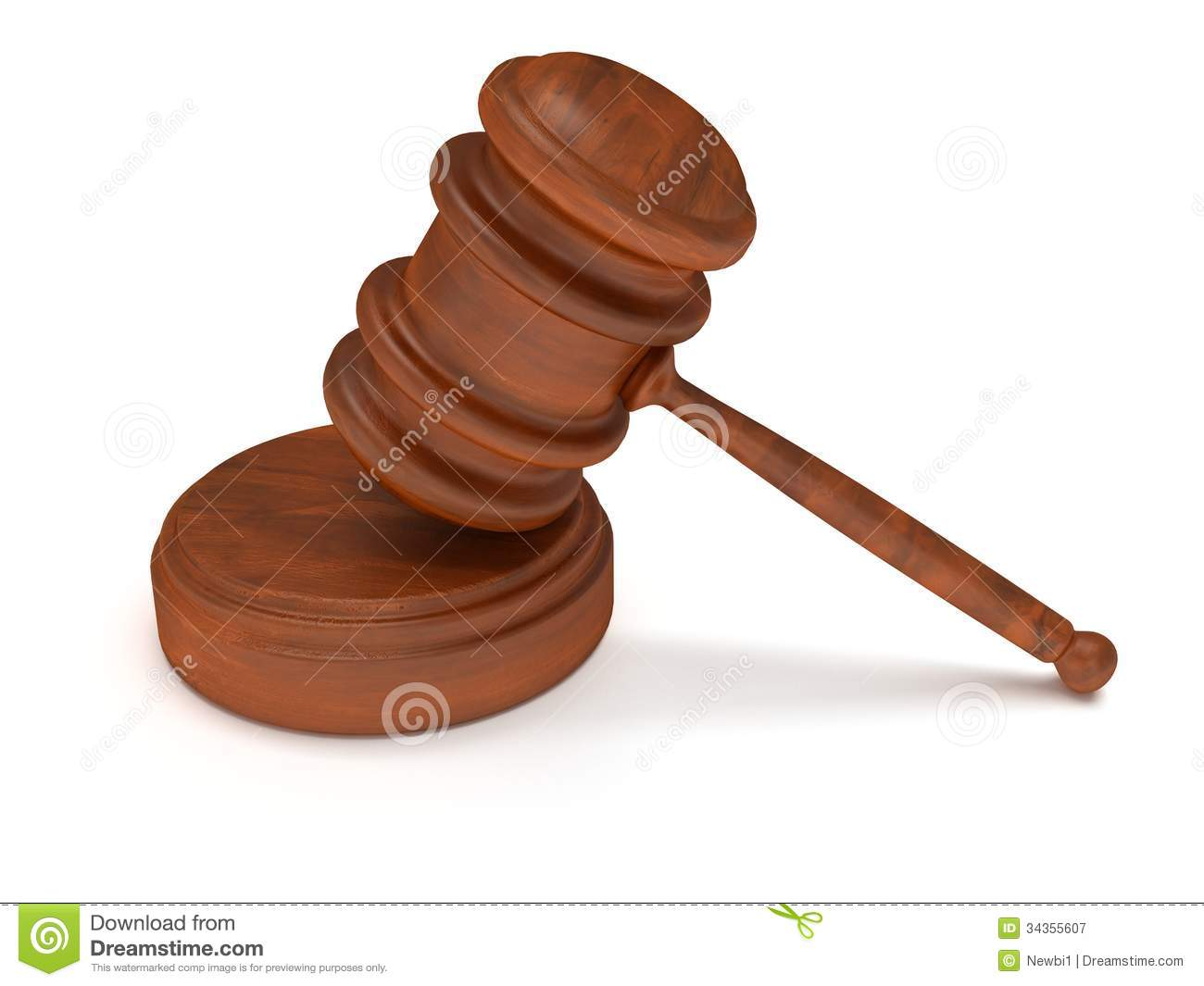 3D Wooden Gavel. Judge, Law, Auction Concept Royalty Free ...