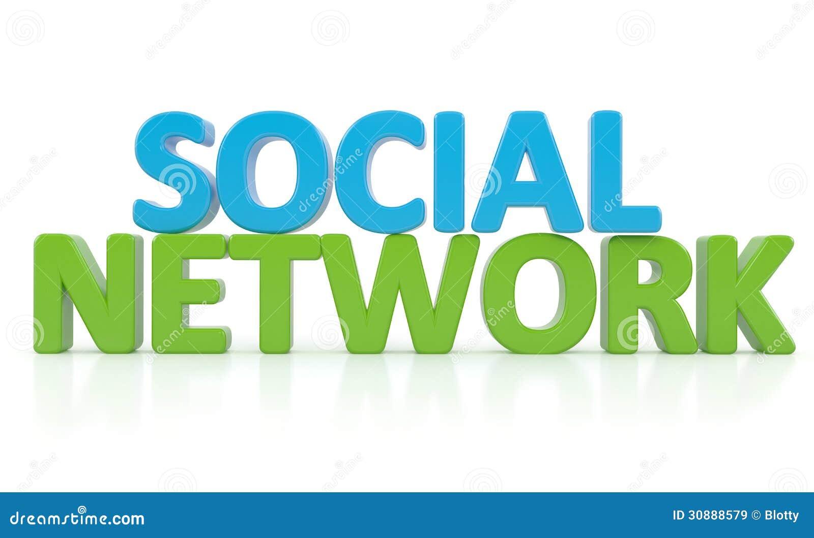 3d Word Social Network Stock Illustration  Illustration Of