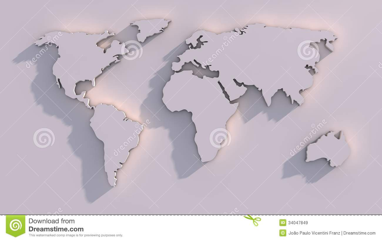 3D World Map Royalty Free Stock Images Image 34047849