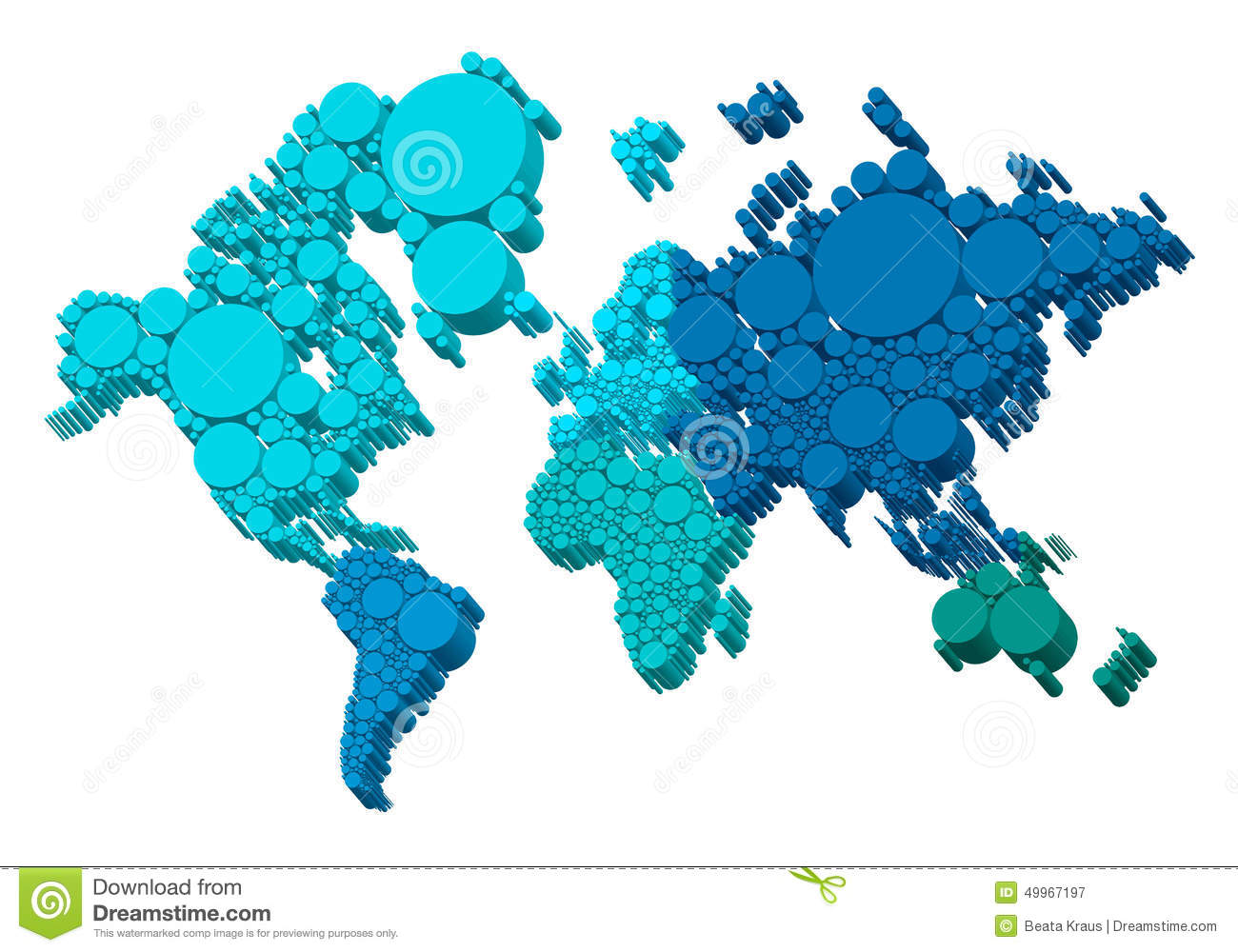 3d world map with dots vector stock vector illustration of green 3d world map with dots vector royalty free vector download gumiabroncs Image collections