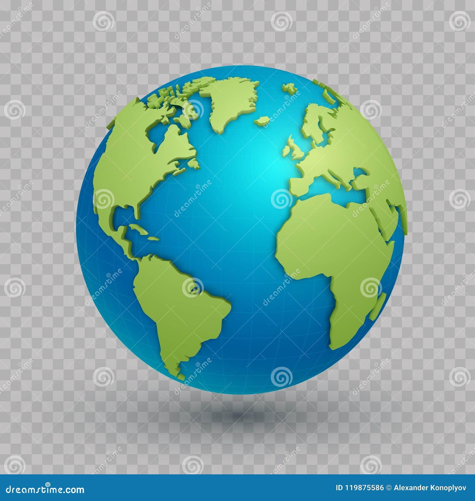 World Map 3d Model.3d World Map Globe Stock Vector Illustration Of Asia 119875586