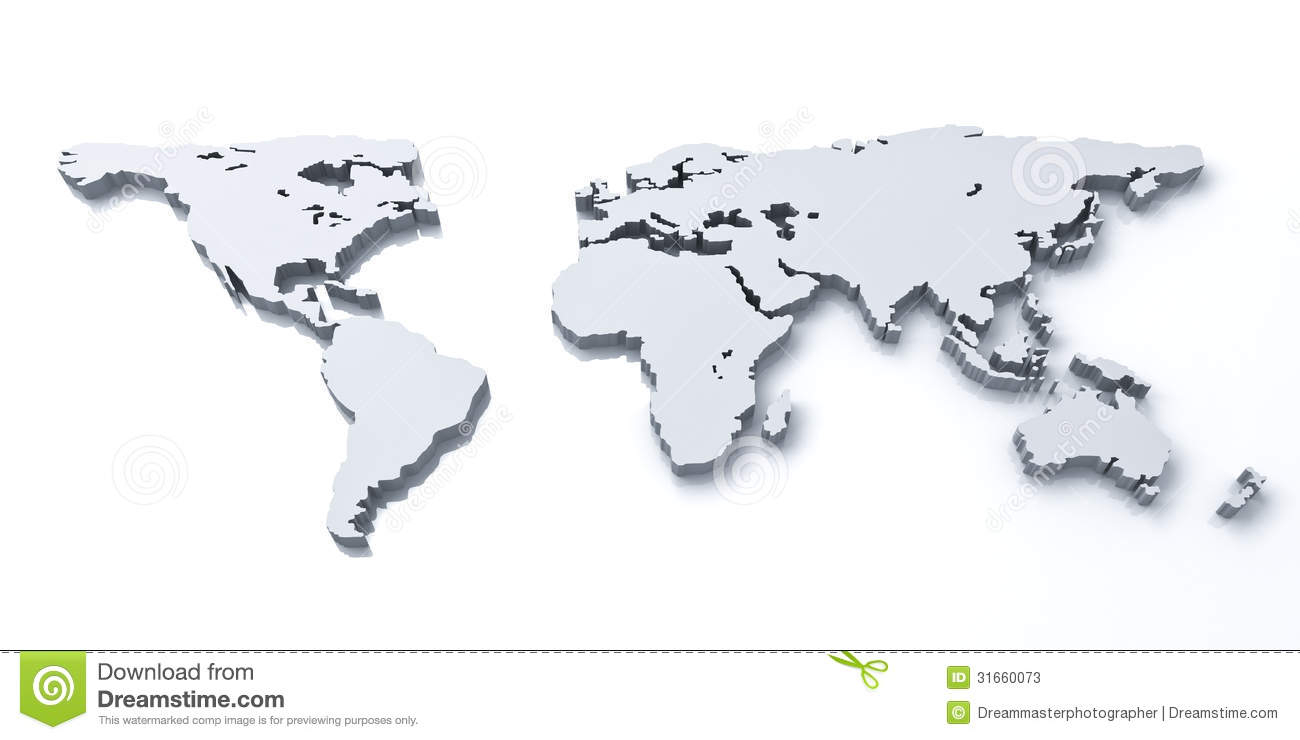 3d world map over white background stock illustration illustration 3d world map over white background royalty free stock photo gumiabroncs Choice Image