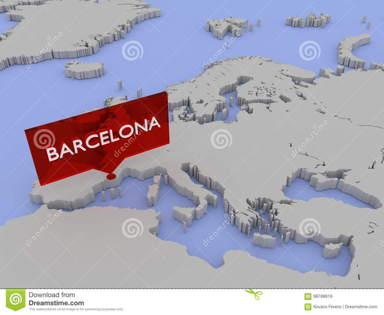 3d World Map Sticker Barcelona Stock Illustration Illustration Of Conversation Statistic 98788919