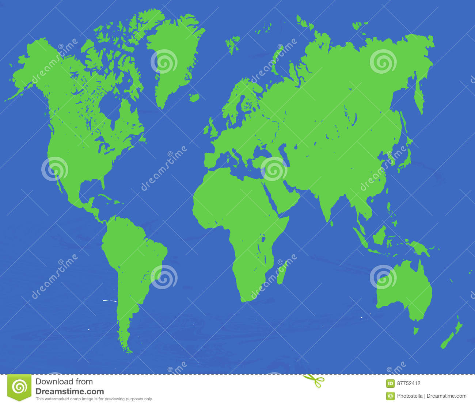 2d world map vector stock vector. Illustration of night   87752412