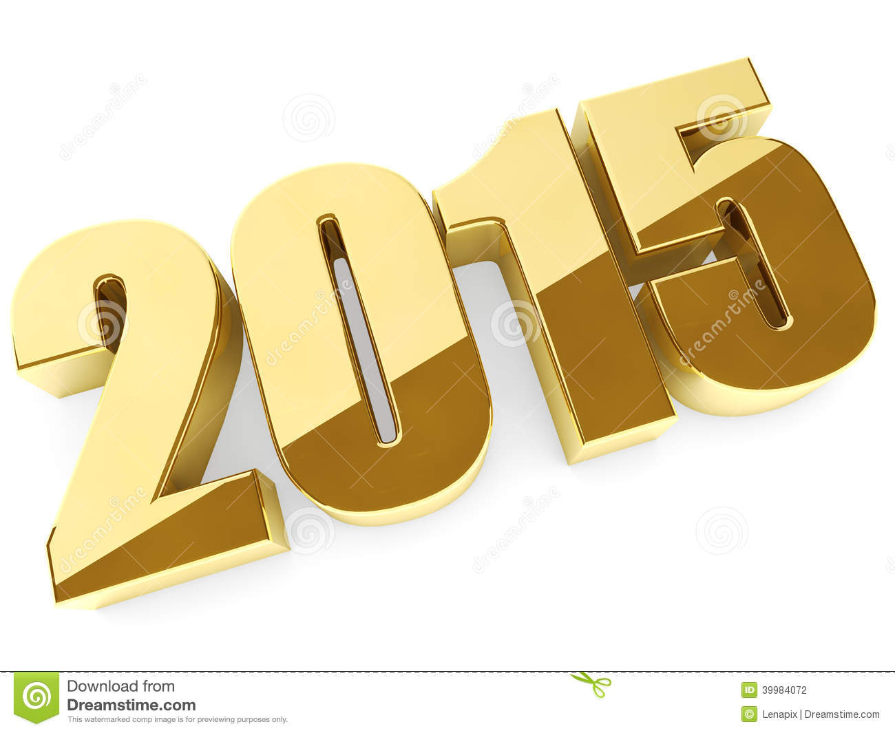 3D 2015 Year Figures Stock Illustration - Image: 39984072