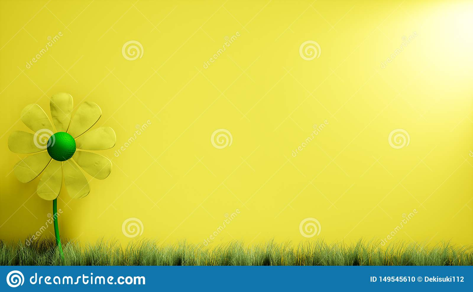 3d Yellow Abstract Flower Illustration Background Wallpaper