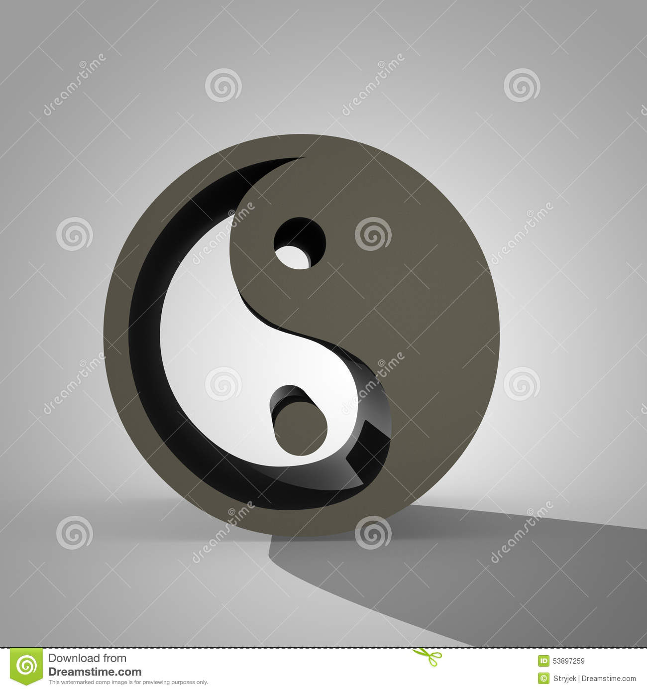 Chinese symbol of taoism yin yang stock illustration illustration 3d yin and yang sign chinese symbol of taoism royalty free stock images buycottarizona Images
