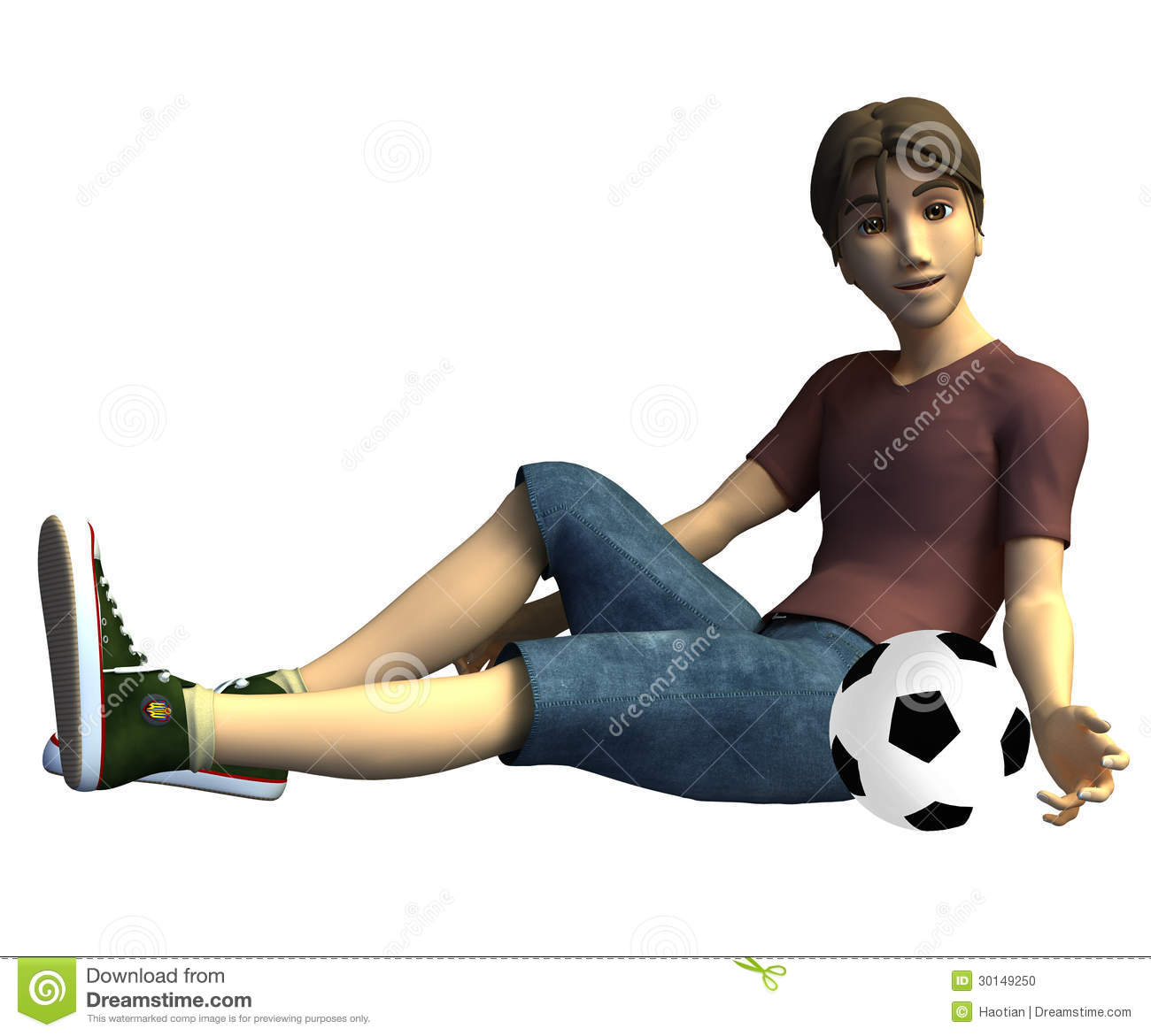 3223eebe91 3d Soccer player stock illustration. Illustration of texture - 30149250