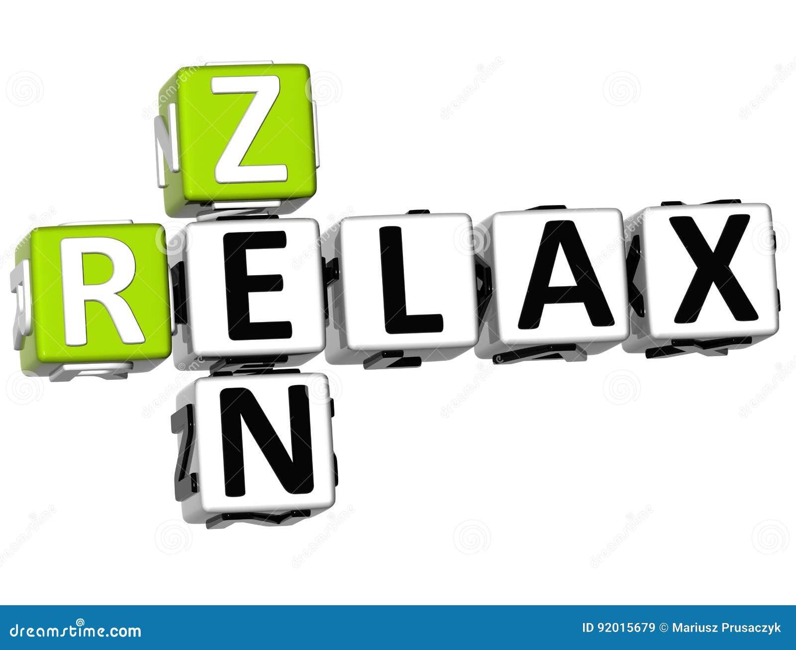 3D Zen Relax Crossword