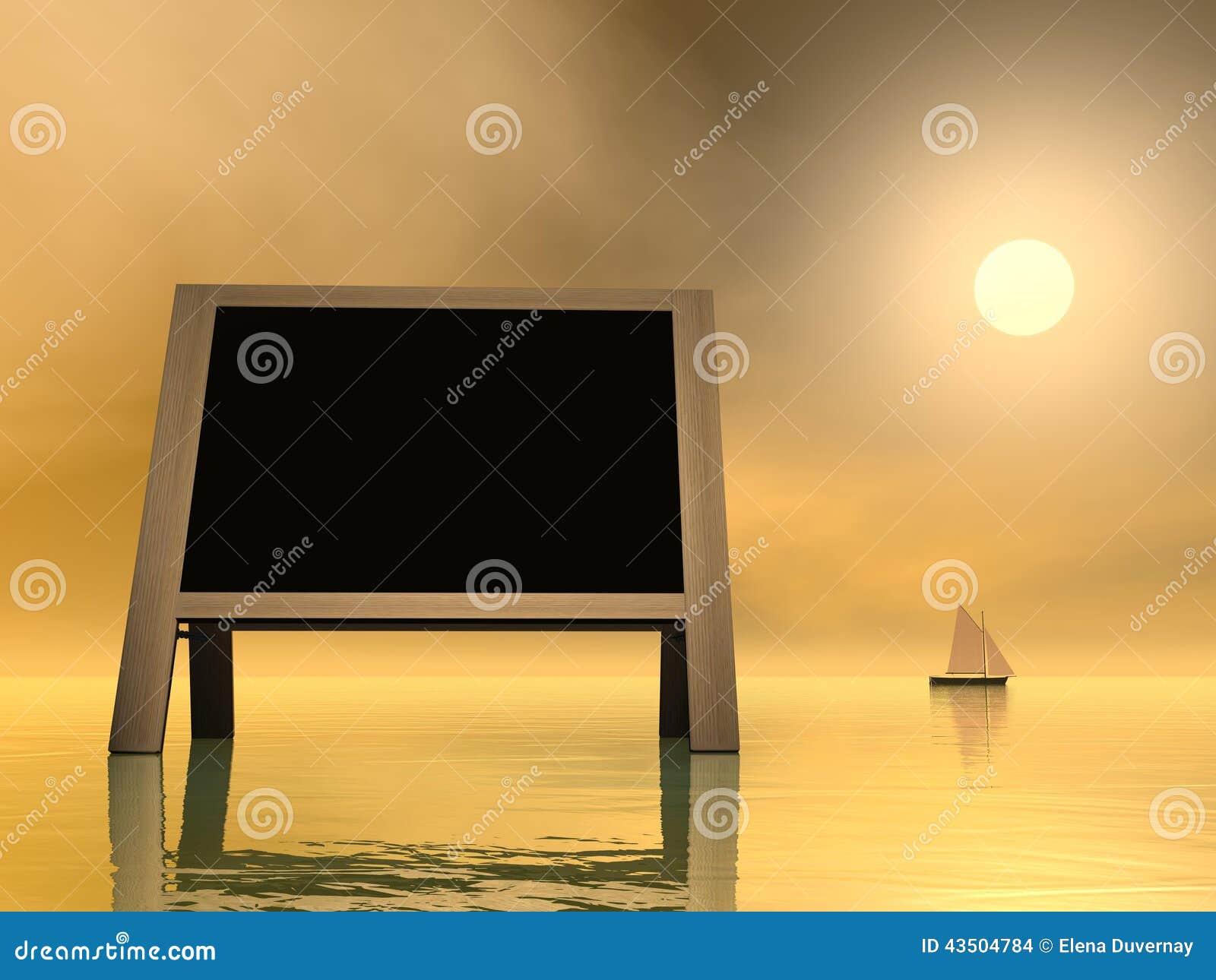 3D zonsondergangbericht - geef terug