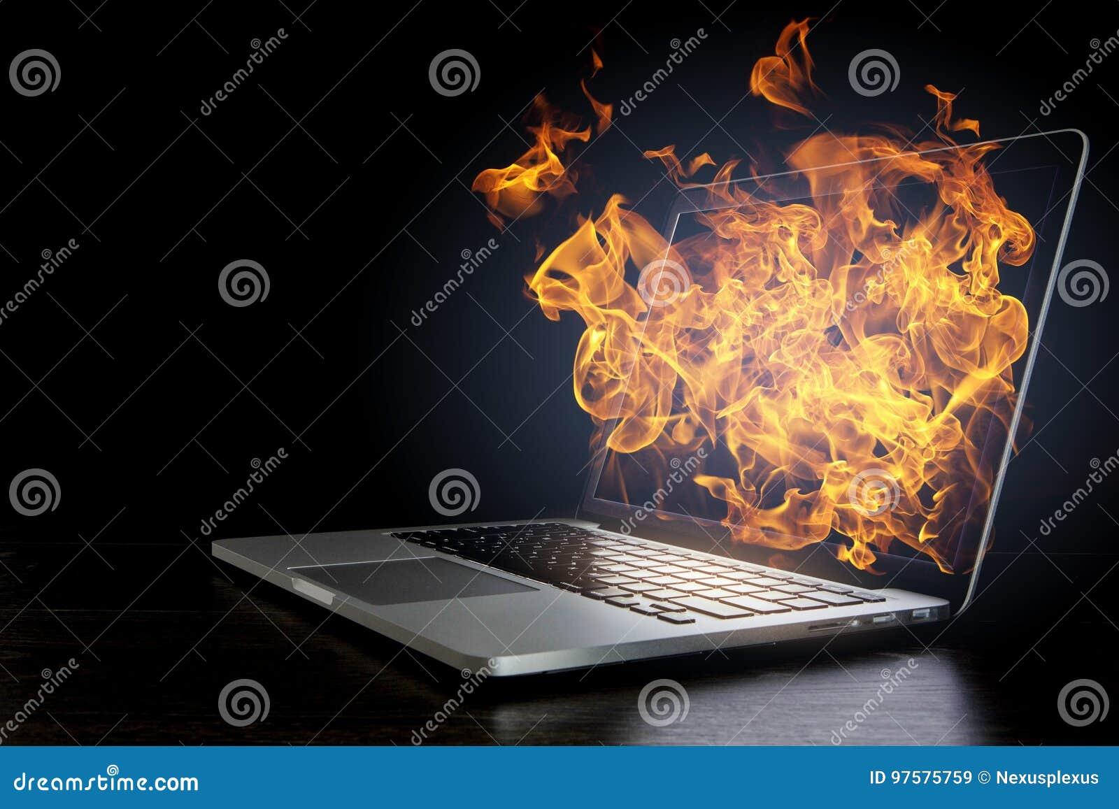 Daño del dispositivo del ordenador portátil Técnicas mixtas