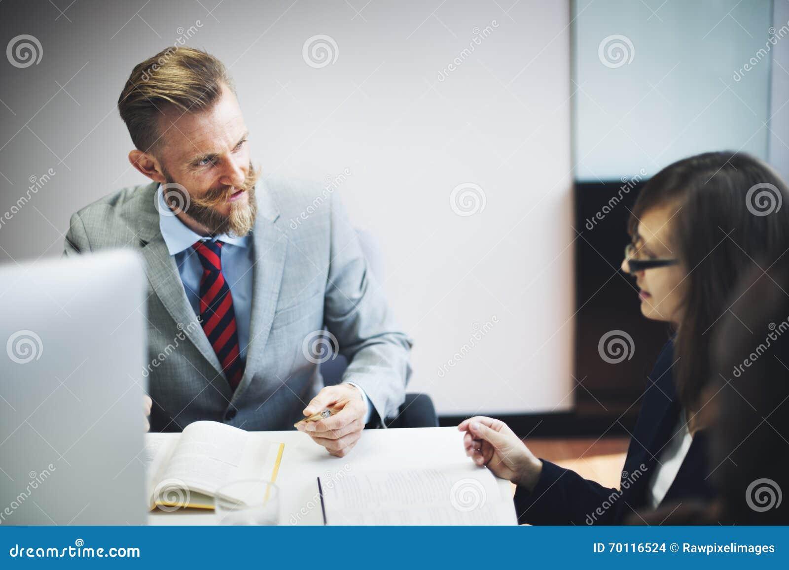 Da entrevista executivos do conceito incorporado de uma comunicação