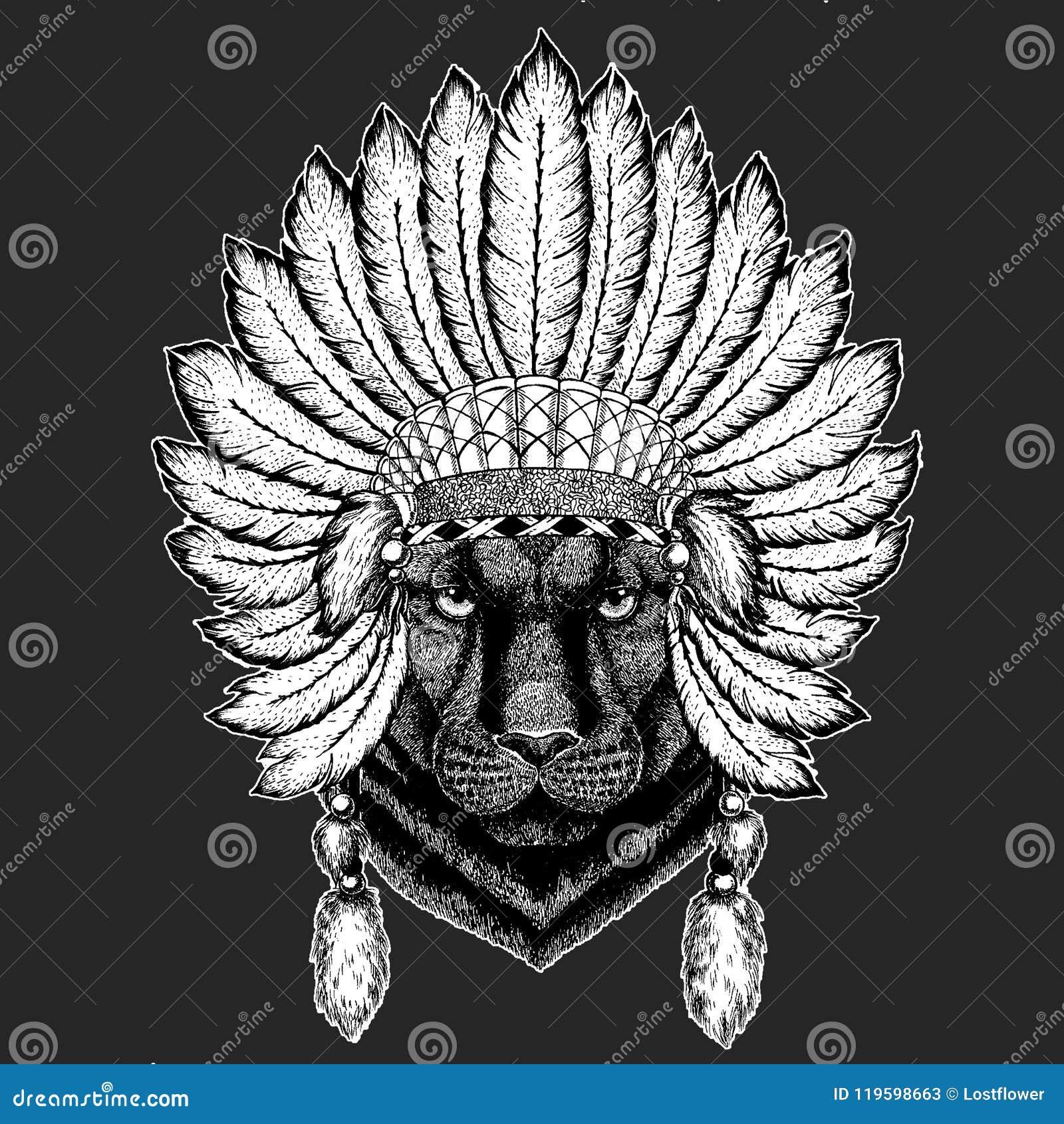 Da Mantilha Indiana Etnica Tradicional Do Boho Do Puma Do Puma Da