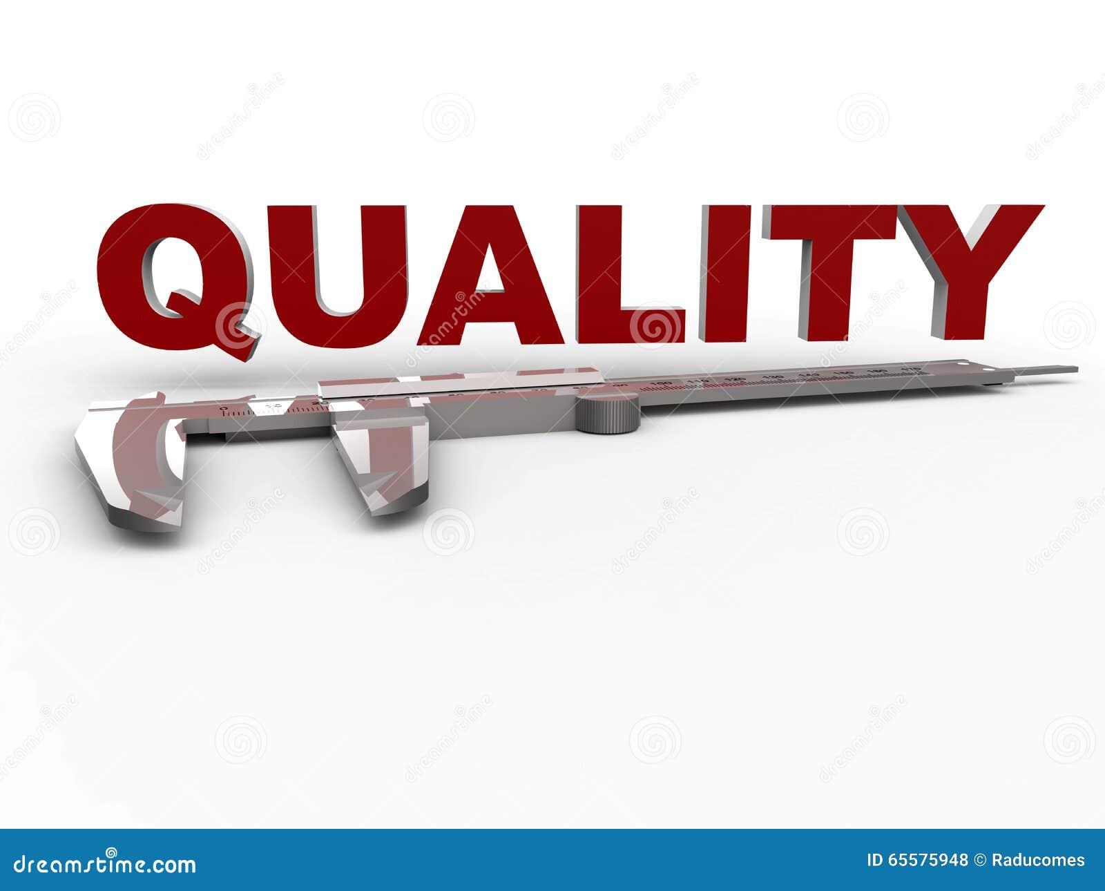 Da qualidade medida do conceito do compasso de calibre