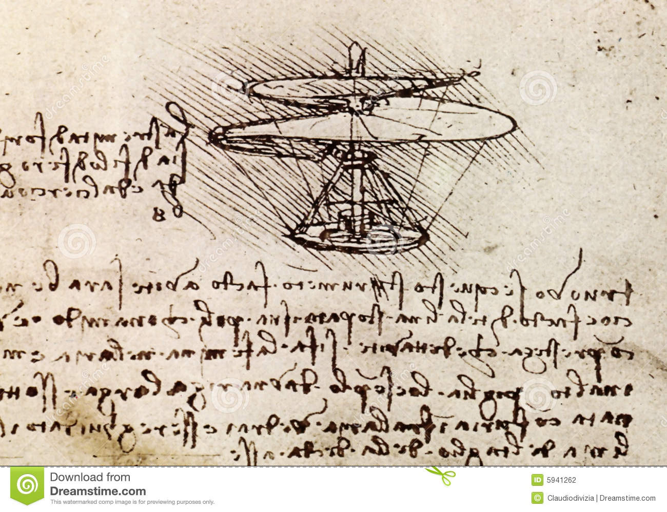 leonardo da vinci helicopter design with Stock Photography Da Vinci Drawing Image5941262 on Flying Machine besides 8 Inventive Designs Of Leonardo Da Vinci That Have Modern Day Counterparts together with Stock Photography Da Vinci Drawing Image5941262 further 11 Leonardo Da Vinci Inventions in addition Behold The First Electric Guitar The 1931 Frying Pan.