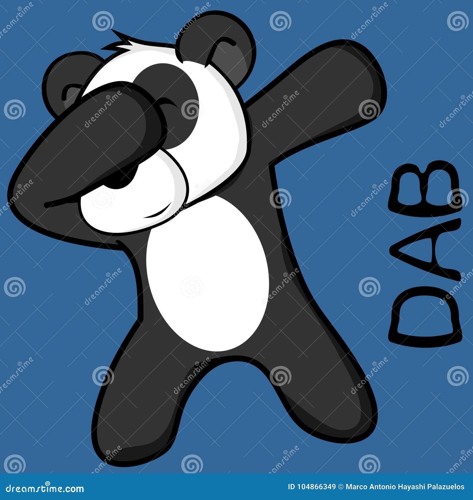 Dab dabbing pose panda bear kid cartoon