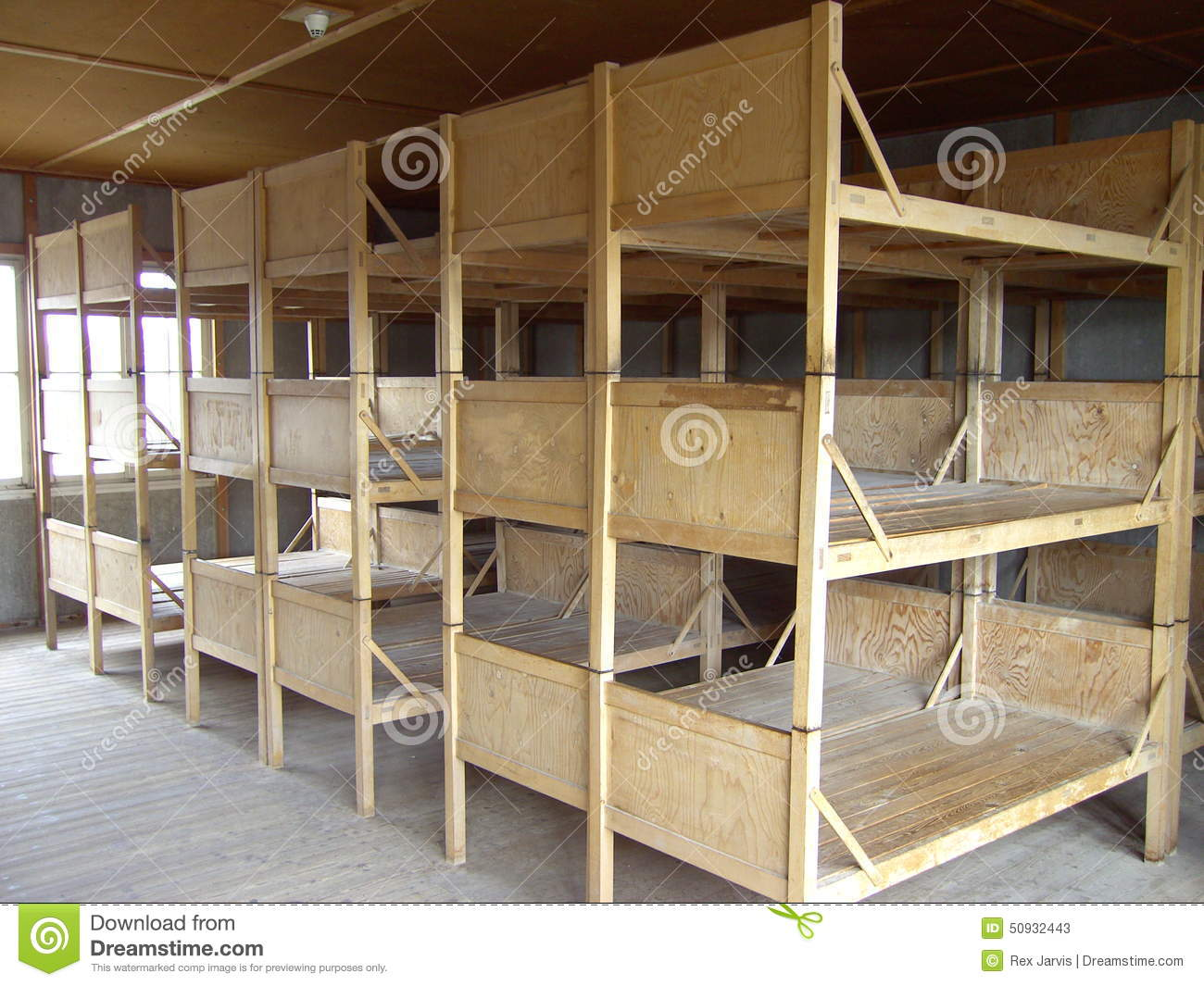 Picture of: Dachau Bunk Beds Stock Image Image Of Bunkbed Germany 50932443