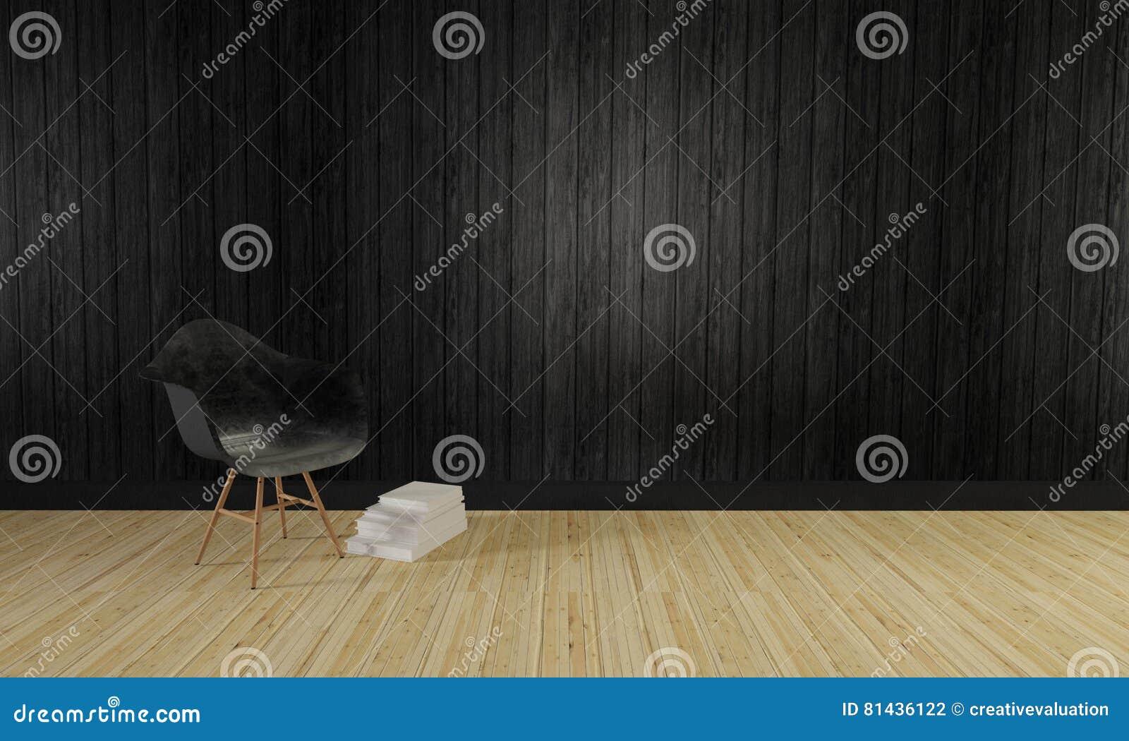 Dachboden Und Einfache Wohnzimmer- Und Hölzernewand Background-3d ...
