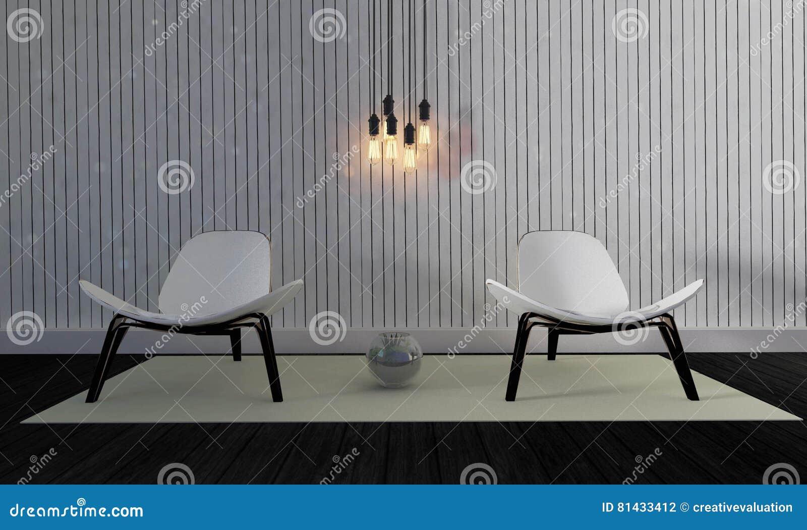 3d Fußboden Wohnzimmer ~ Dachboden und einfaches wohnzimmer mit stuhl und wand background