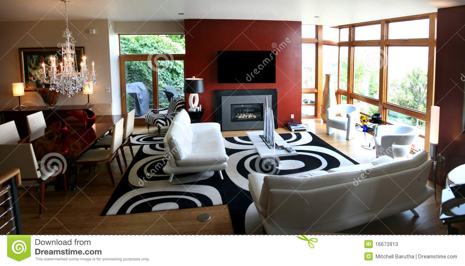 Dachbodenwohnzimmer