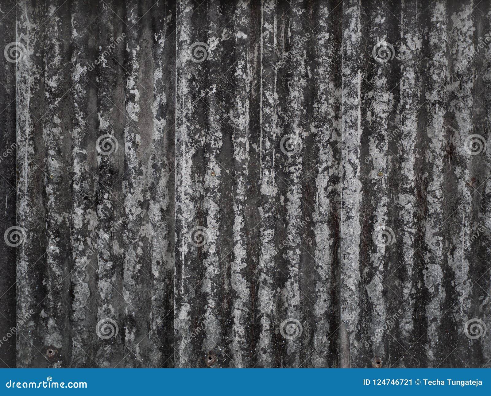 Dachowych płytek ściana