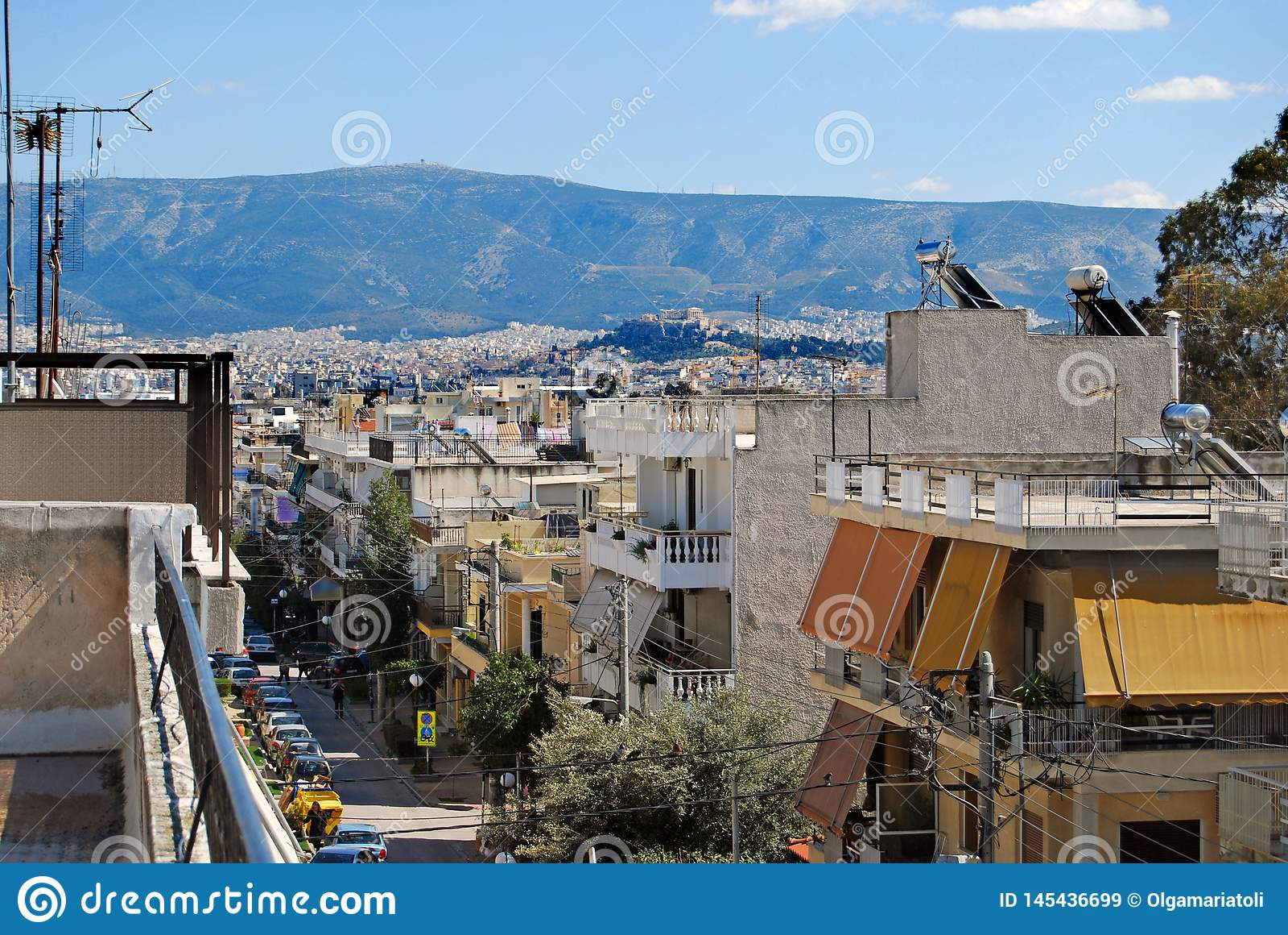 Dachspitze mit einer Ansicht