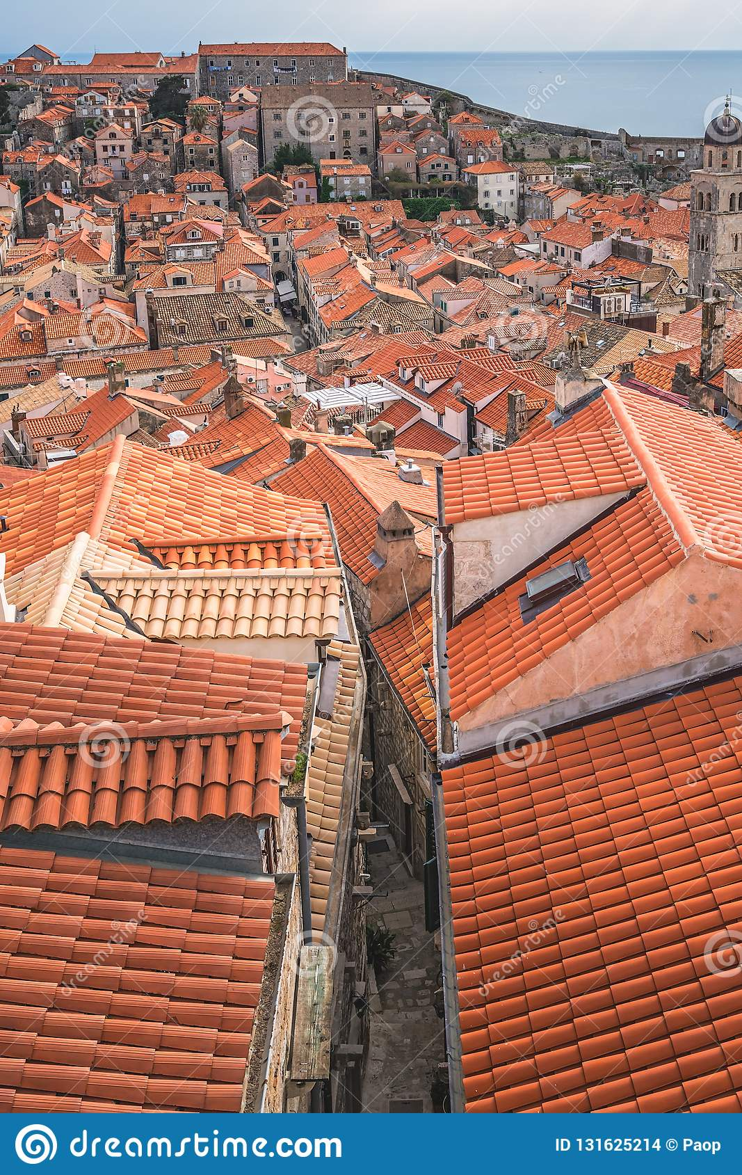 Dachspitzen alter Stadt Dubrovniks