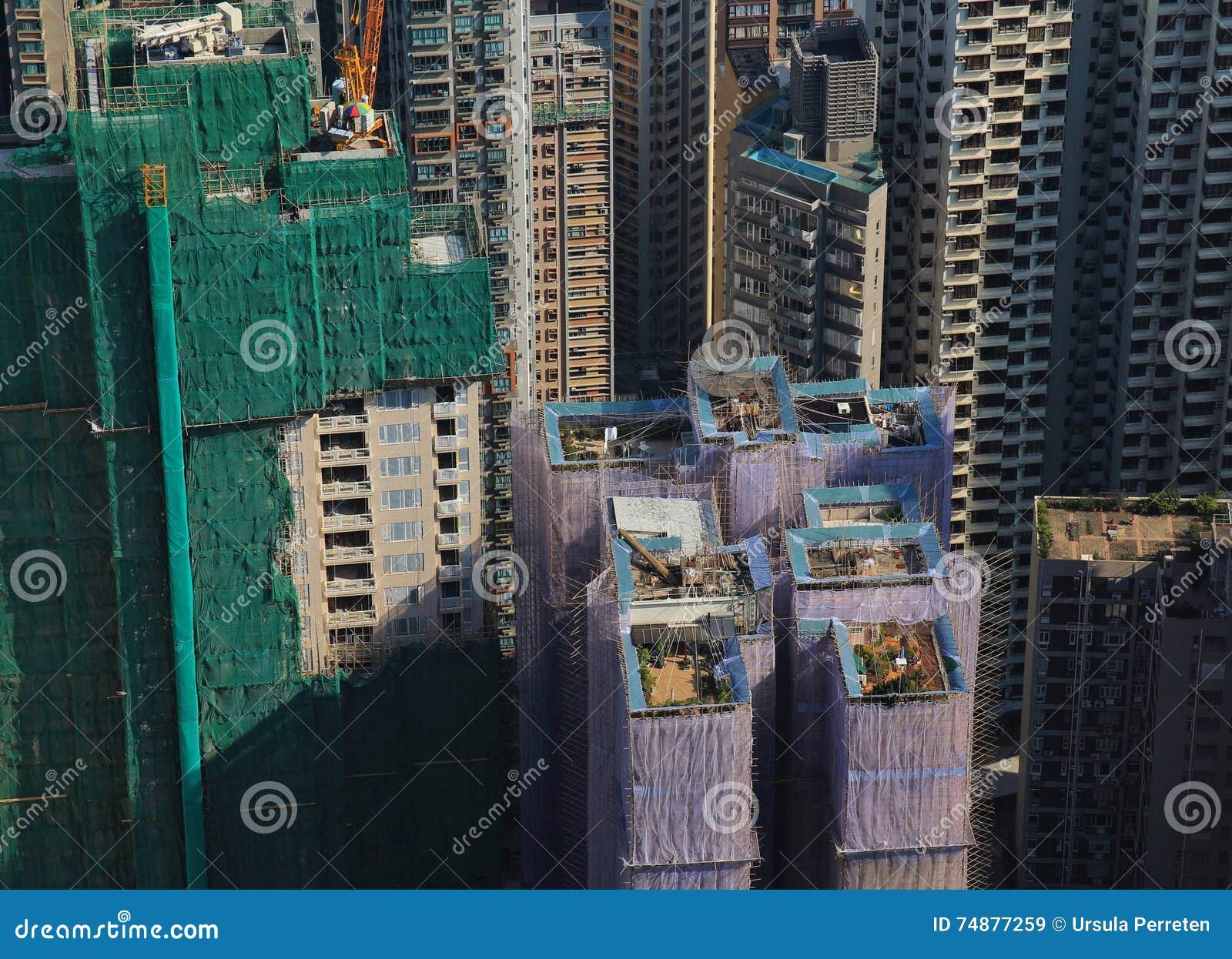 Dachspitzengärten in Hong Kong