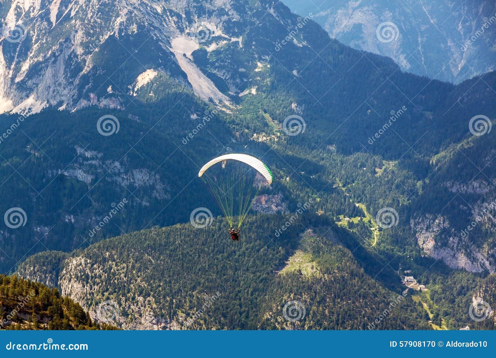 Dachstein-Krippenstein Paraglider Stock Photo - Image of