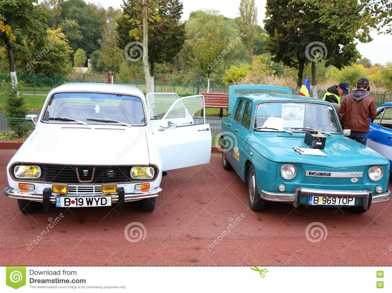 Dacia 1300 and 1100 editorial stock photo. Image of model - 79464693