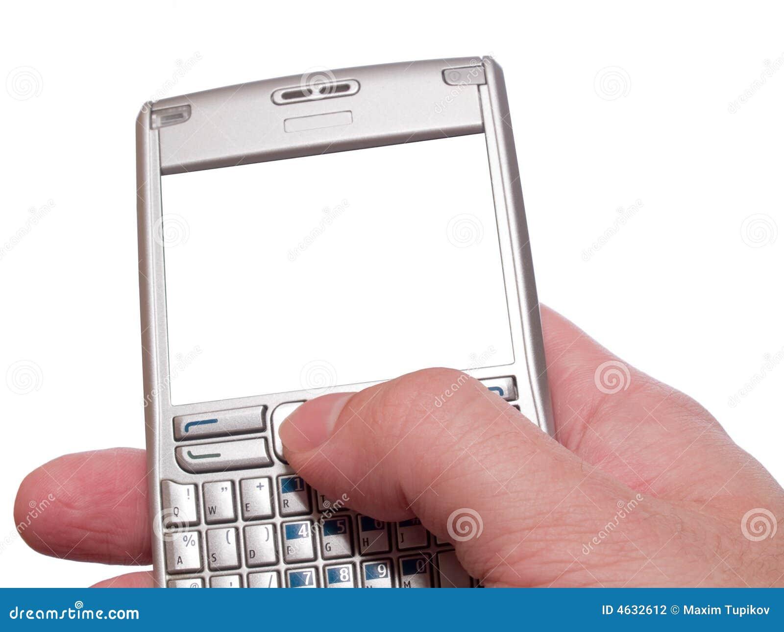 Dactilografia no assistente digital pessoal