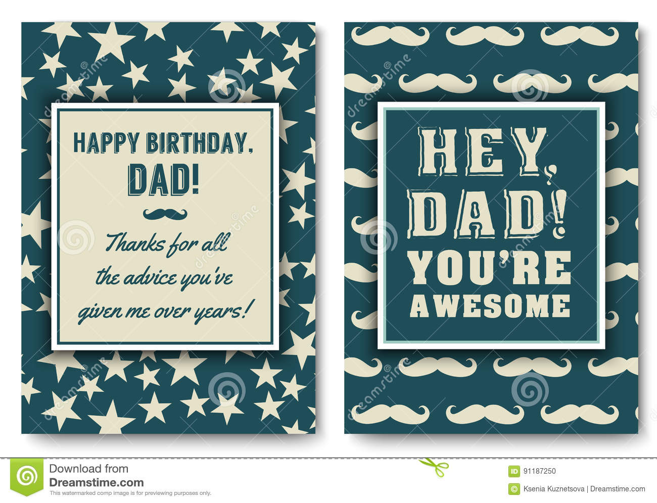 Dad Birthday Card With Words Of Love